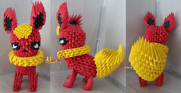 Liam Thinks 3d Origami Paper Sculptures Of Pop Culture Characters