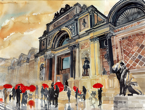 Charming Watercolor Paintings Of Famous Landmarks And Locations Designtaxi Com