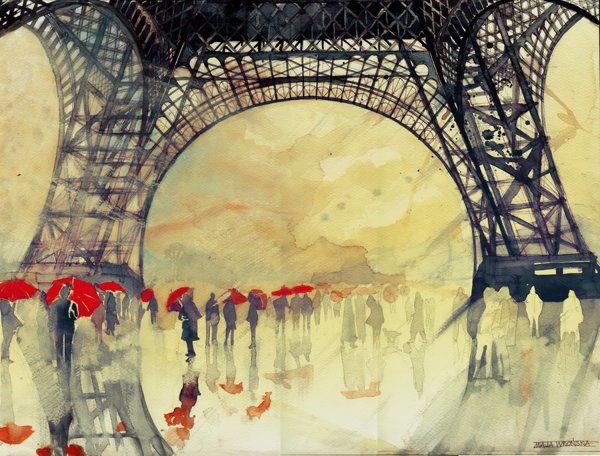 Charming Watercolor Paintings Of Famous Landmarks And ... - photo#32