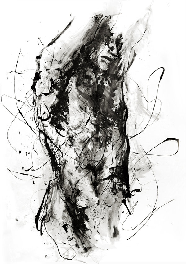 cecile agnes paint watercolor painting scars portraits deviantart designtaxi drip paintings visually drawing striking abstract dripped created five tools drawings