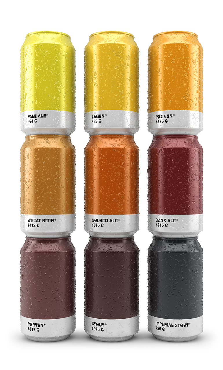 Creative Beer Packaging Pairs Beer Colors With Their Matching Pantone Shades