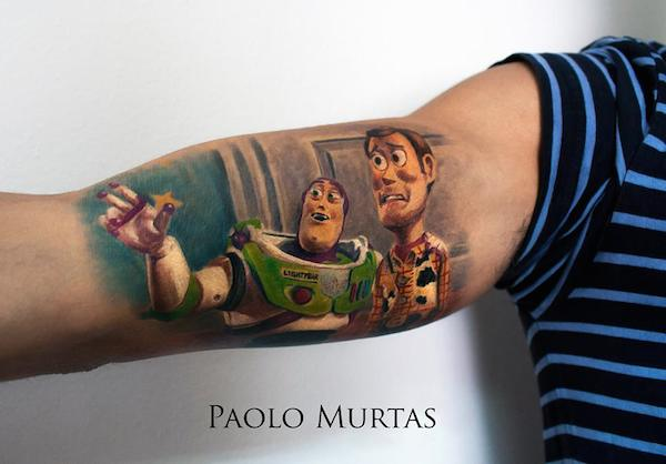 cool hyperrealistic tattoos of popular movie characters
