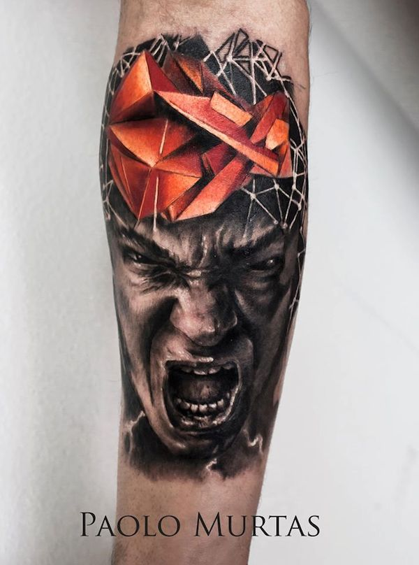 cool hyperrealistic tattoos of popular movie characters abstract scenes. Black Bedroom Furniture Sets. Home Design Ideas