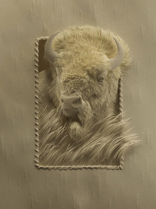 Beautifully realistic paper sculptures of wildlife for Calvin nichols