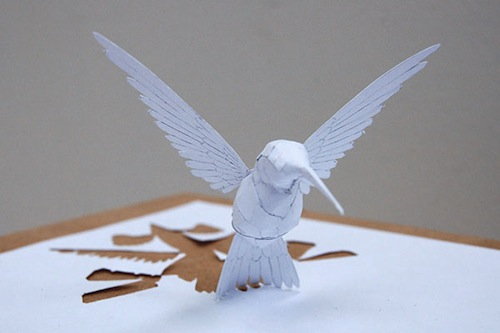 Amazing Sculptures Pop Up From A Single Piece Of Paper