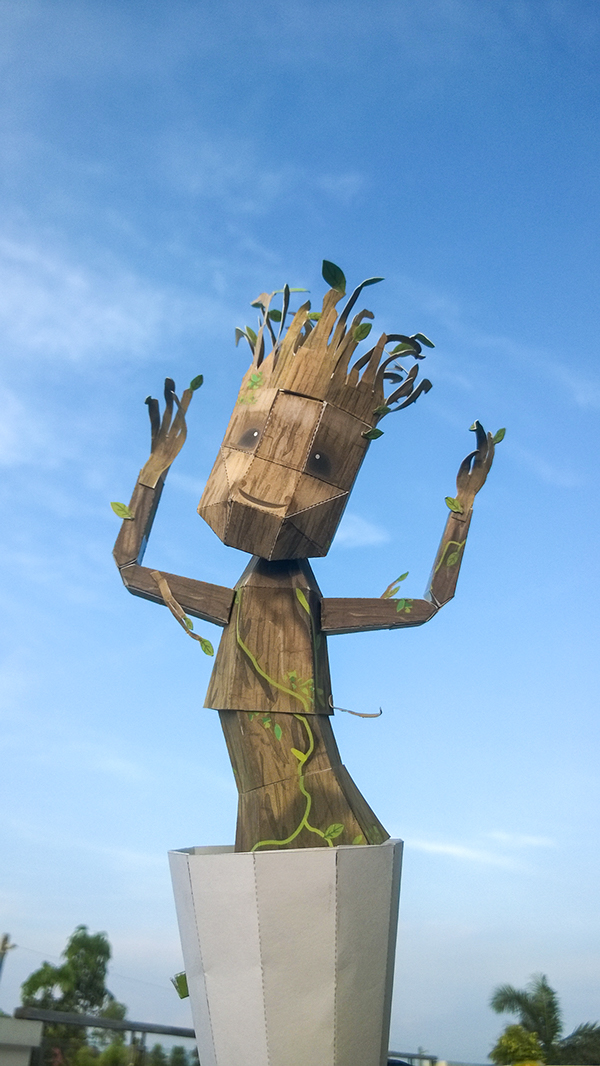 An Awesome Papercraft Dancing Baby Groot That You Can Make Yourself
