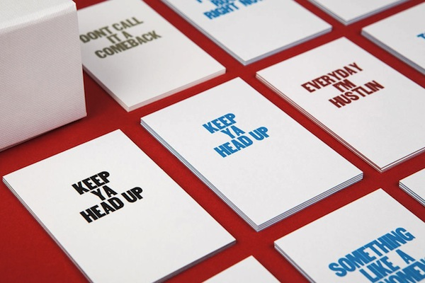 Business cards printed with motivational phrases inspired by rap business cards printed with motivational phrases inspired by rap songs colourmoves