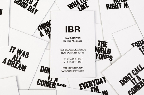 Liam thinks business cards printed with motivational phrases find out more about her design and view more images of these striking business cards over here colourmoves
