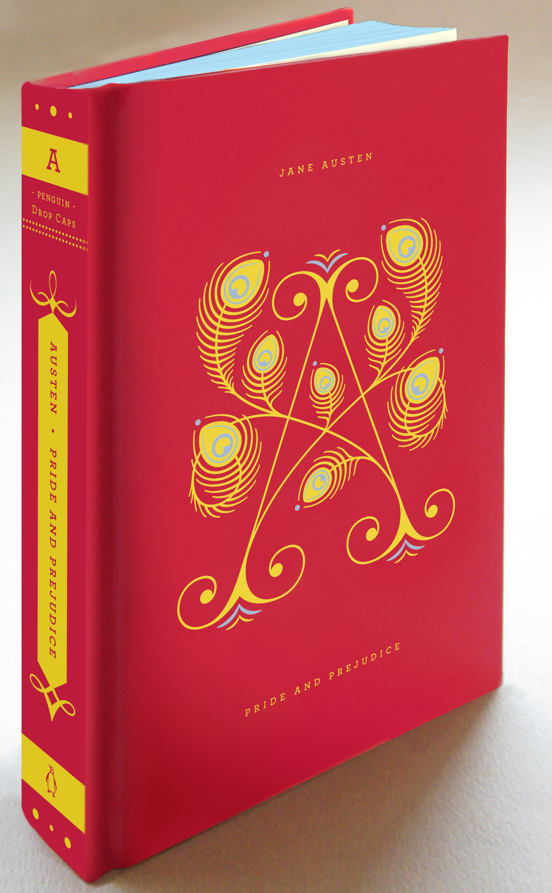 Typographic Book Cover Notes : Penguin book covers get 'drop cap motifs for typography