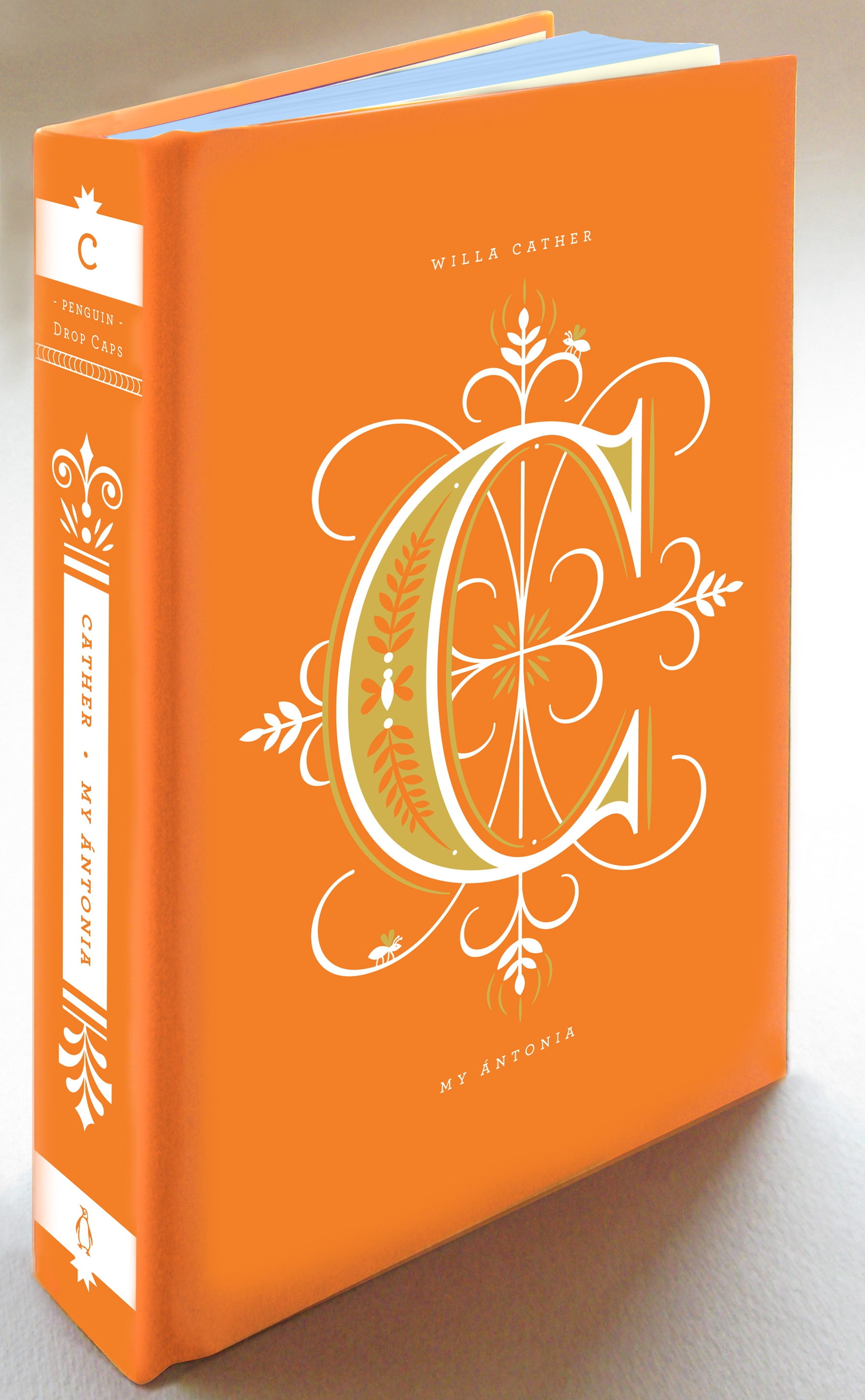 Typographic Book Cover Letter ~ Penguin book covers get 'drop cap motifs for typography