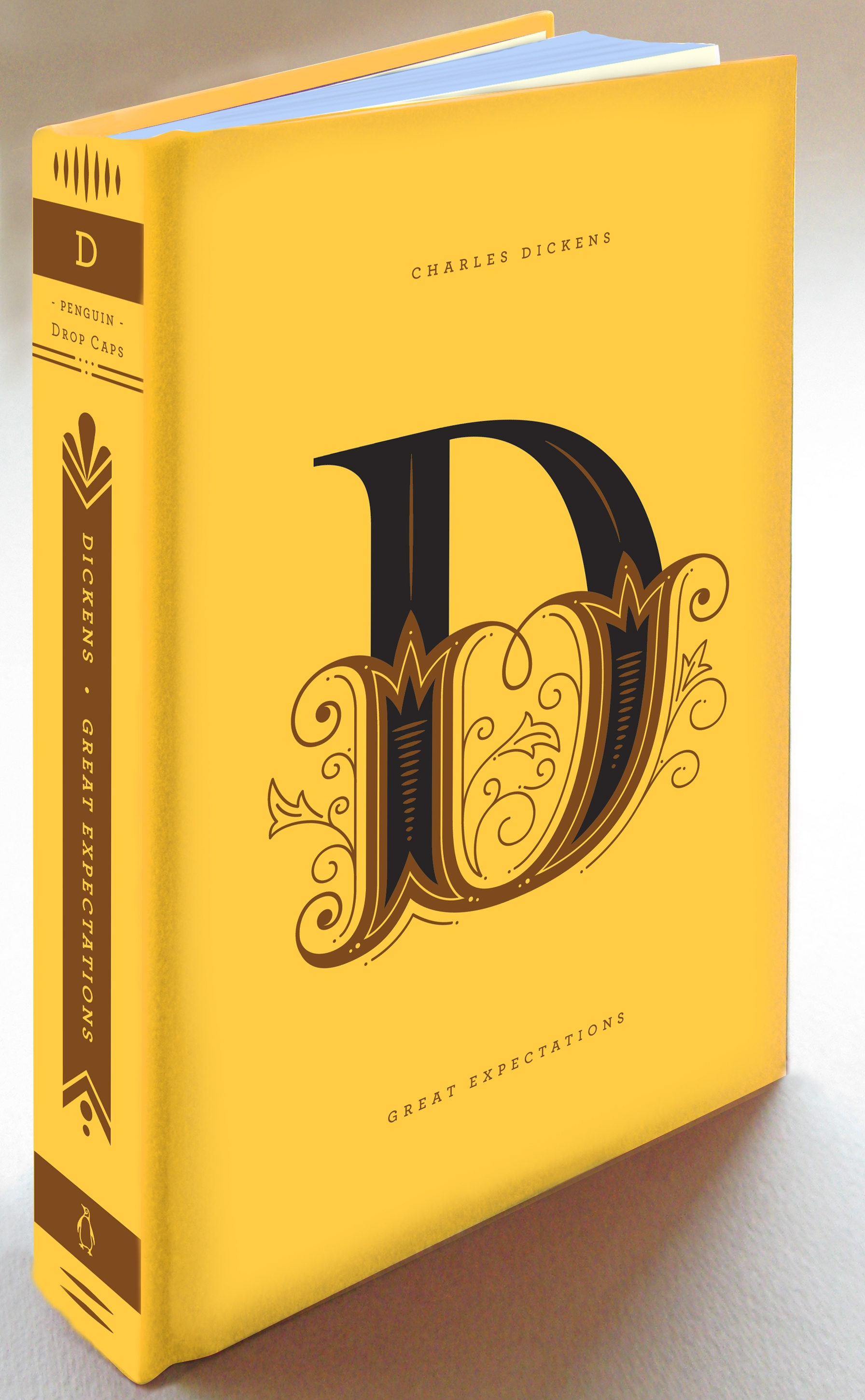 Typographic Book Cover Letter : Penguin book covers get 'drop cap motifs for typography