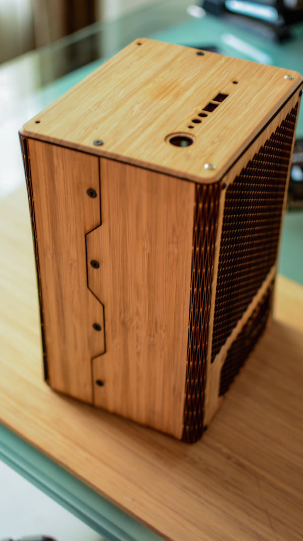 A Tiny, Beautifully-Made Desktop Computer That Is Made Of Real Bamboo Wood - DesignTAXI.com