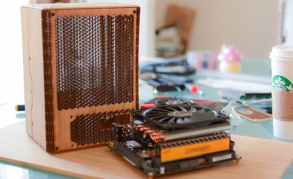 A Tiny, Beautifully-Made Desktop Computer That Is Made Of Real Bamboo Wood