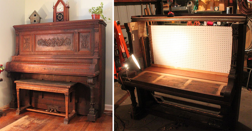 Up Cycled Piano Converted To A Fully Functioning Work