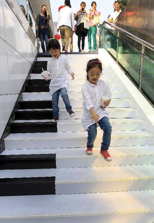 In China Piano Staircase Lets You Make Music By Walking