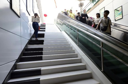 In China 39 Piano Staircase 39 Lets You Make Music By Walking