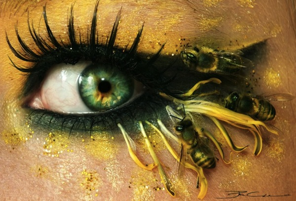 beautifully dramatic artistic eye makeup that is