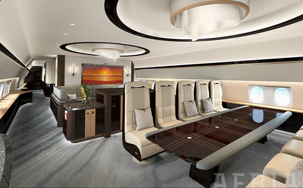 Ultra luxurious in flight experience with designer for High tech luxury bed
