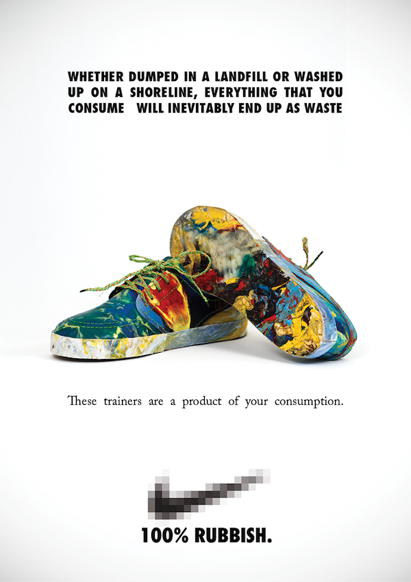 Colorful Shoes Made From Washed Up Plastic Trash