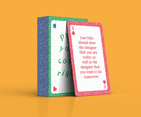 Playing Cards With Valuable Quotes Remind Designers To