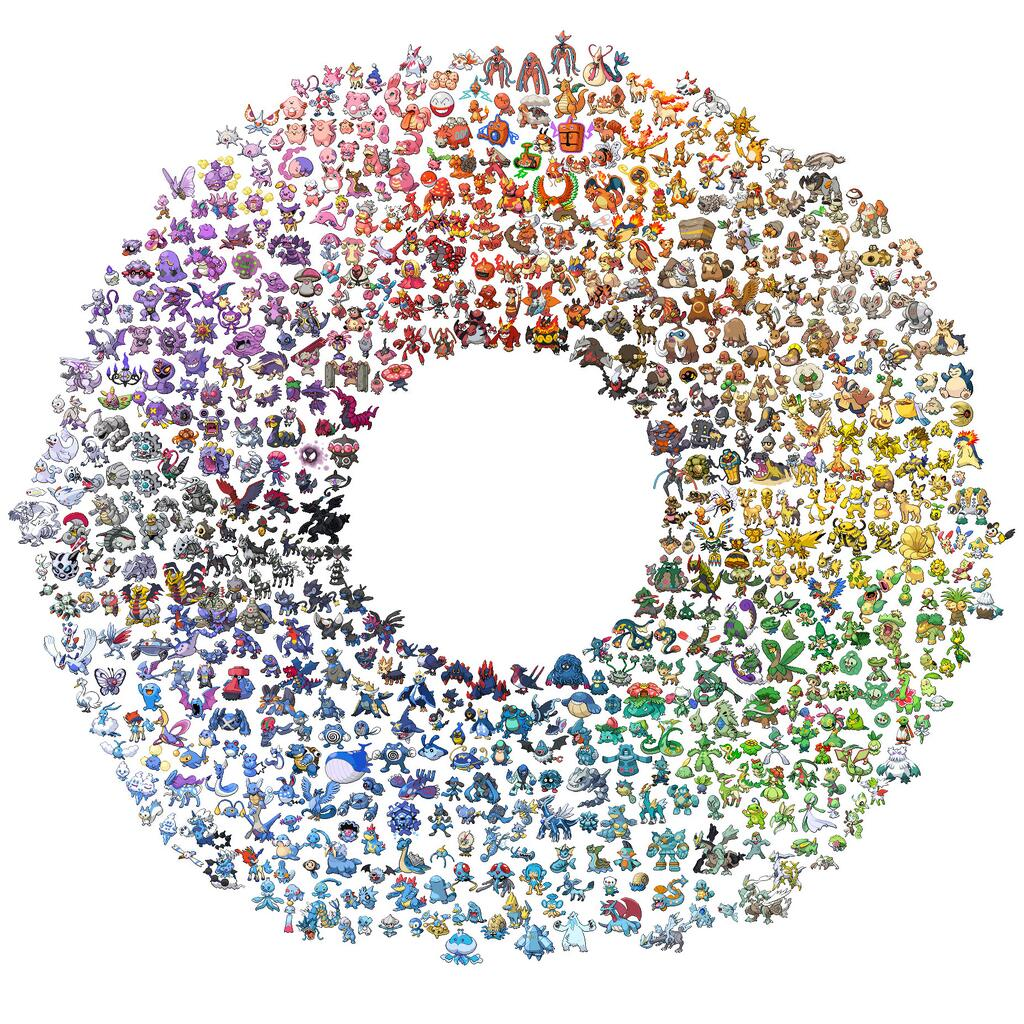 An Awesome Color Wheel Created With All The Pokémon ...