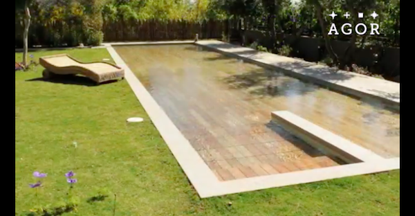 A Swimming Pool With Adjustable Floors That Appear And