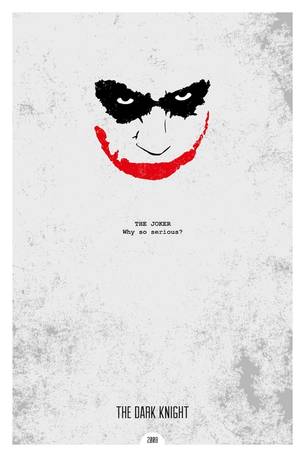 minimalist movie posters with iconic quotes. Black Bedroom Furniture Sets. Home Design Ideas