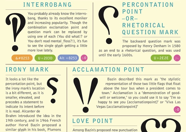 Infographic: 13 Little-Known Punctuation Marks That We ...