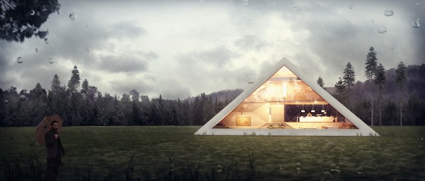 An Unusual Pyramid Shaped House With A Gorgeous Glass