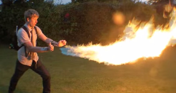 This Man Can Shoot Flames Like Pyro From 'X-Men