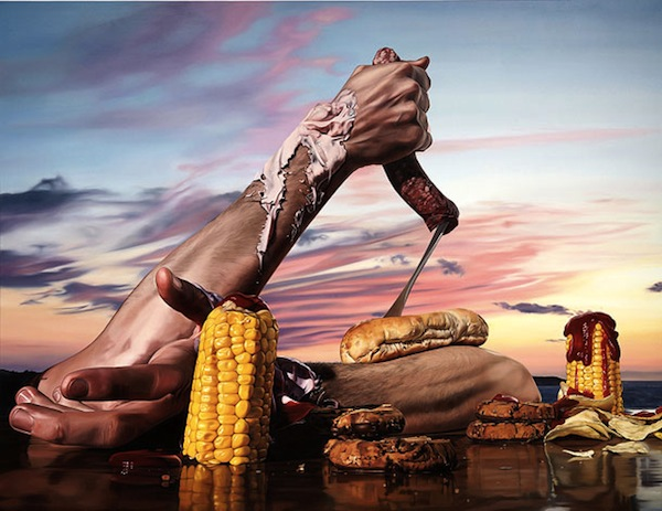 Dali Inspired Surrealist Paintings Of Food Amp Kitchen