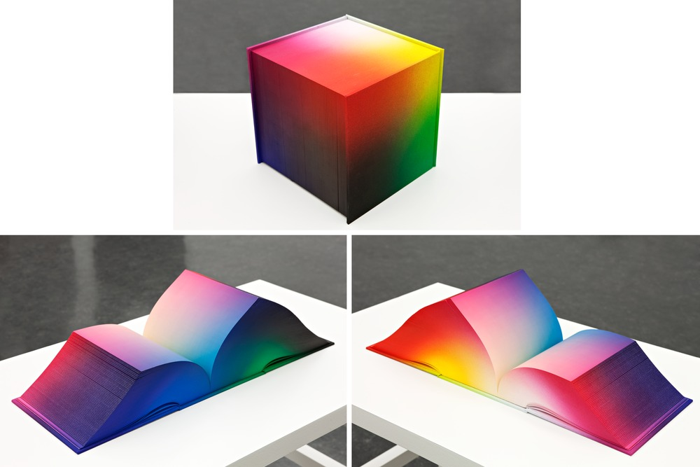 Artist Creates Rainbow Book Of 3,632 Pages, To Illustrate RGB Color ...