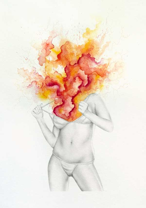 Explosive  Spiritual Drawings Of Women  U2018shedding U2019 Their