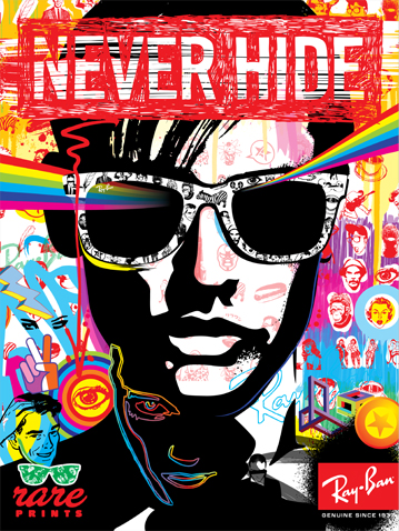Ray Ban Partners with Print Designers, Launches Promo Posters ... d3290cc537f8