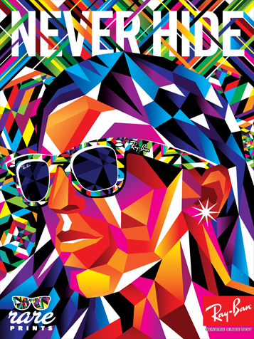 Ray Ban Partners with Print Designers, Launches Promo Posters -  DesignTAXI.com 028fbf7935d6