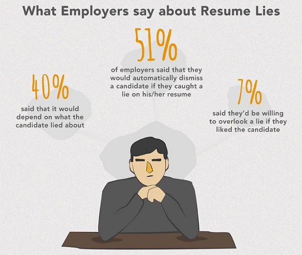 infographic do you lie on your résumé designtaxi com