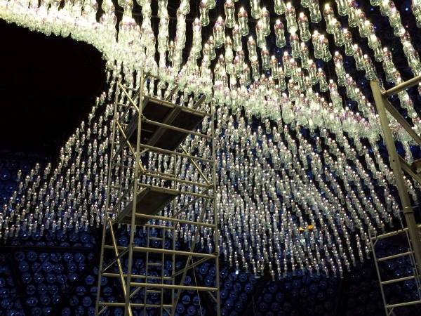 Giant Moon Pavilion Made From Plastic Bottles Puts On