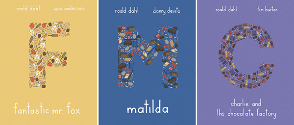 lovely typographic book covers and posters based on books