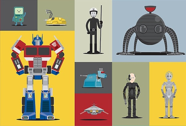Chart A Collection Of Famous And Iconic Robots From Pop