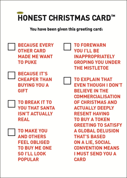 Hilariously rude punny cards for this christmas designtaxi forget about the conventional christmas greeting cards try saying it like it is this year with the following cards by kissmekwik m4hsunfo