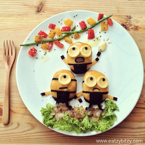 too cute to eat kids meals feature adorable edible characters. Black Bedroom Furniture Sets. Home Design Ideas
