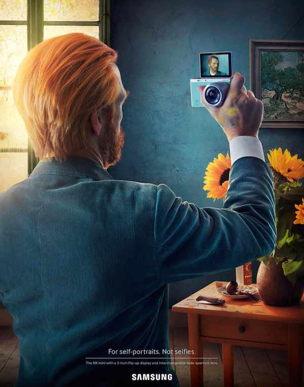 Samsung Ads Show Famous Artists Taking Selfies To Create Iconic Self-Portraits - DesignTAXI.com