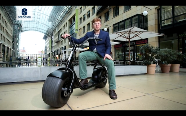 Introducing The Scrooser An Eco Friendly Urban Scooter