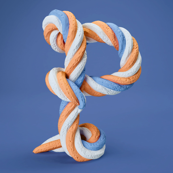 A Fantastic 3d Sculpted Alphabet Made From Food Body