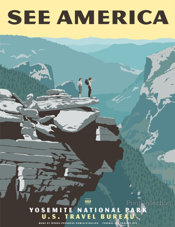 Gorgeous Vintage-Style Travel Posters Of Famous American ...