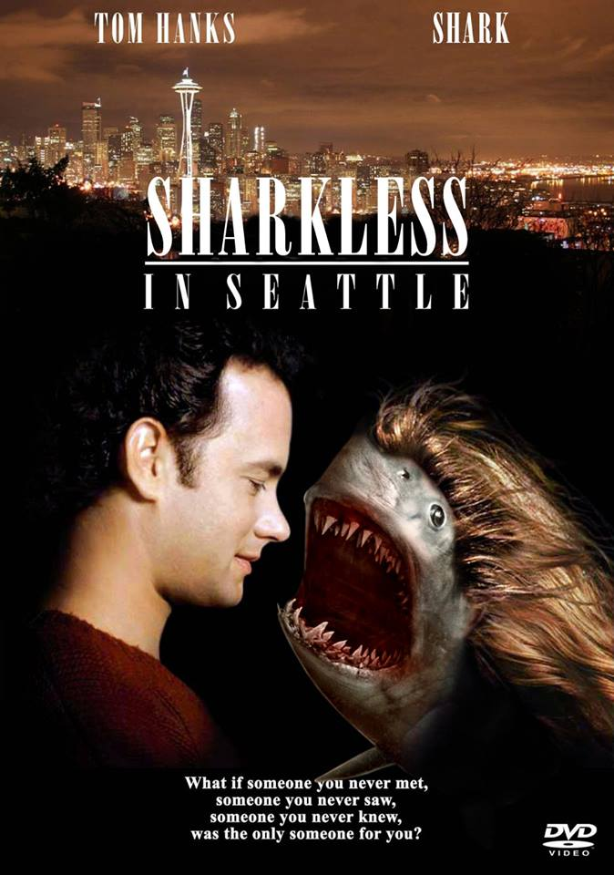 funny photoshopped movie posters show how sharks make movies better