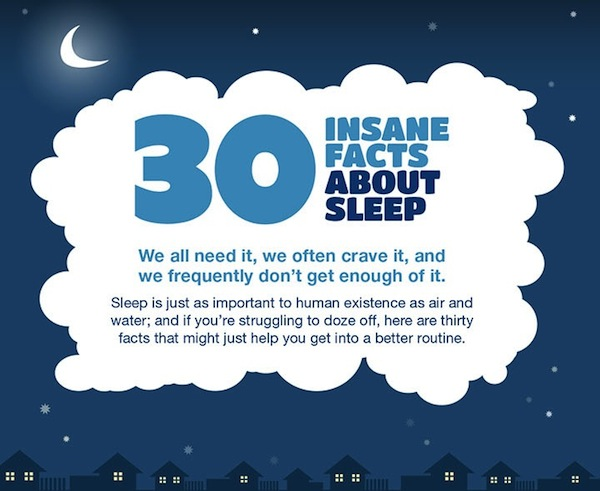 Sleep Science Mattress >> Infographic: 30 Interesting Fun Facts About Sleep - DesignTAXI.com