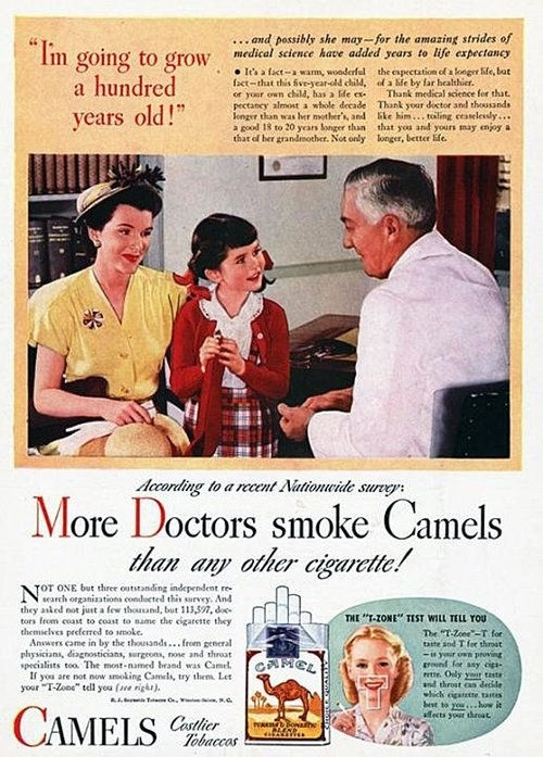 Vintage 'Healthy' Cigarette Ads, Promoted Smoking In The ...