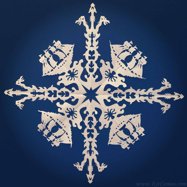 Intricate Paper Snowflakes Inspired By Star Wars & Other