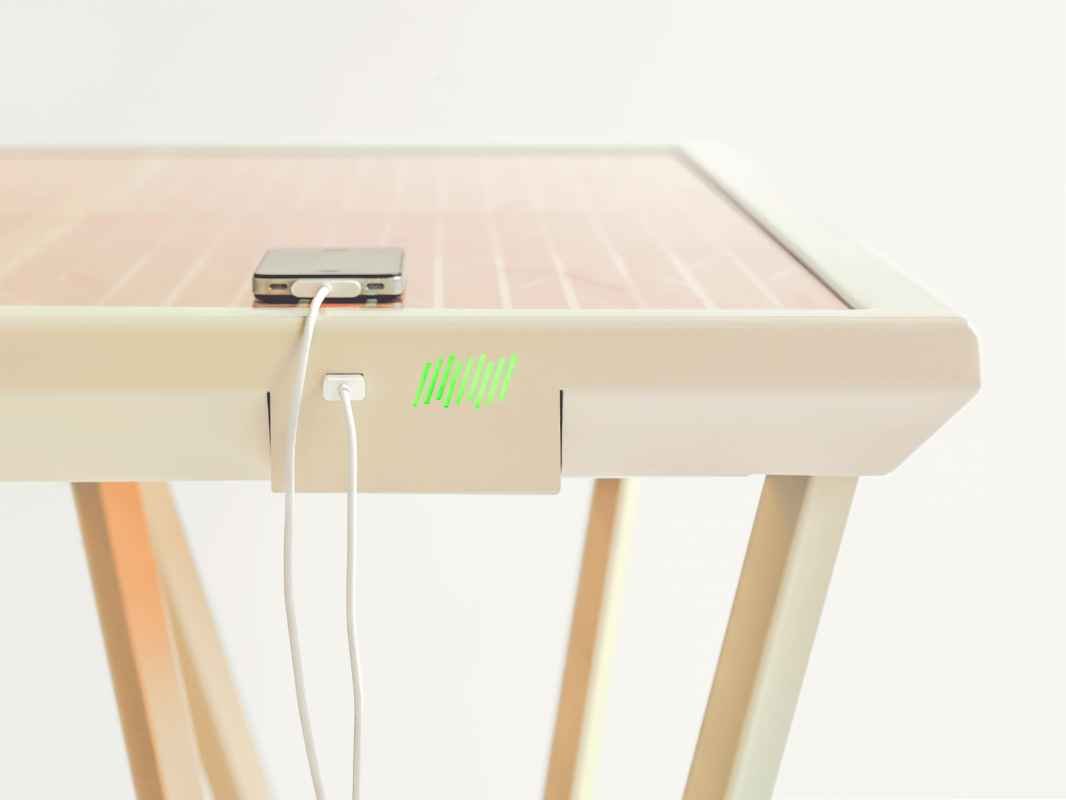 A Table Of Solar Panels That Can Charge Your Electronic